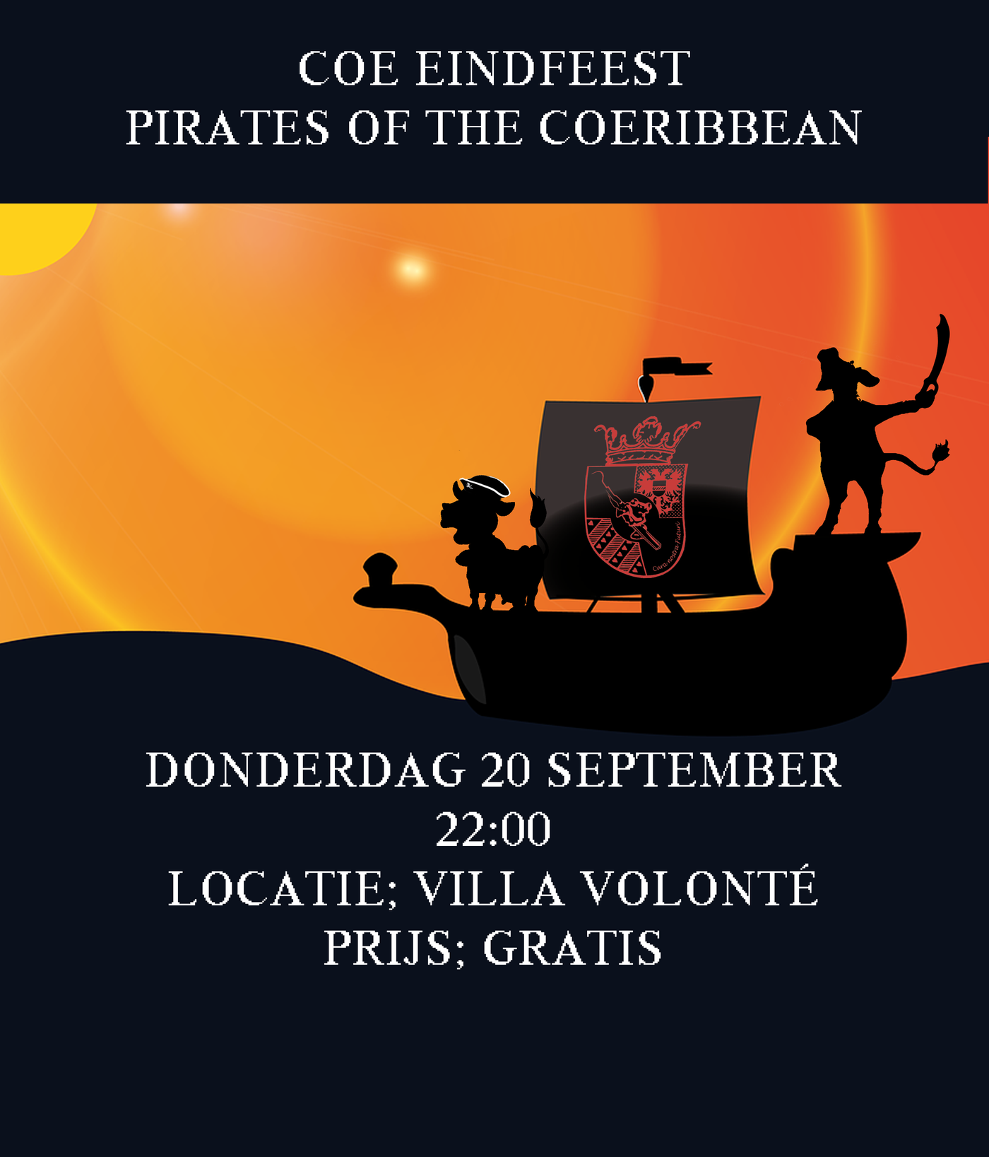 COE eindfeest- Pirates of the COEribbean